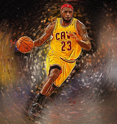 Los Angeles Lakers Digital Art - Lebron James by Semih Yurdabak