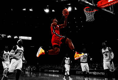 Lebron James Showtime  Art Print by Brian Reaves