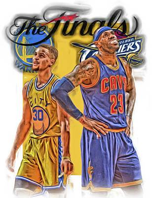 Lebron James Stephen Curry The Finals Art Print by Joe Hamilton