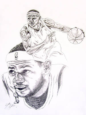 Lebron Drawing - Lebron by Otis  Cobb