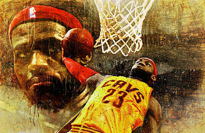 Cleveland Stadium Painting - Lebron Sets The Tone by John Farr
