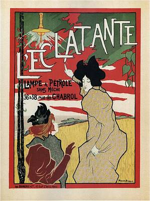 Mixed Media - L'eclatante - Petrol Lamp Advertisnment - Vintage Advertising Poster by Studio Grafiikka