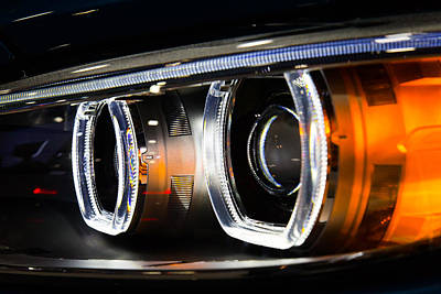 Photograph - Led Headlights by SR Green