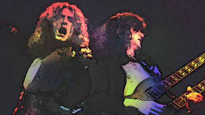 Jimmy Page Mixed Media - Led Zepp  by Enki Art