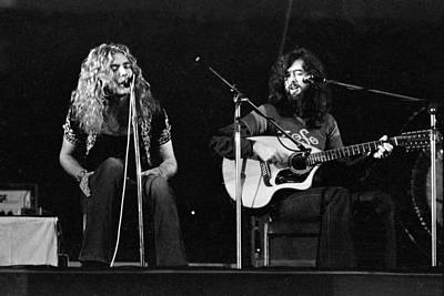 Robert Plant Photograph - Led Zeppelin 1971 Acoustic by Chris Walter