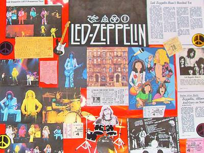 English Rock Groups Photograph - Led Zeppelin Color Collage by Donna Wilson