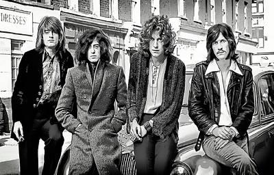 Robert Plant Digital Art - Led Zeppelin by Daniel Hagerman