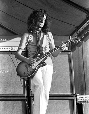 Musicians Photograph - Led Zeppelin Jimmy Page '69 by Chris Walter