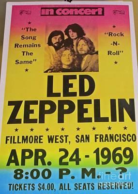 Led Zeppelin Poster Original