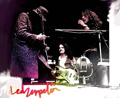 Jimmy Page Mixed Media - Led Zeppelin Poster  by Enki Art