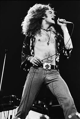 Musicians Photograph - Led Zeppelin Robert Plant 1975 by Chris Walter