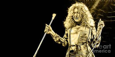 Led Zeppelin Robert Plant Art Print by Marvin Blaine