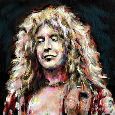 Jimmy Page Mixed Media - Led Zeppelin Robert Plant by Ryan Rock Artist