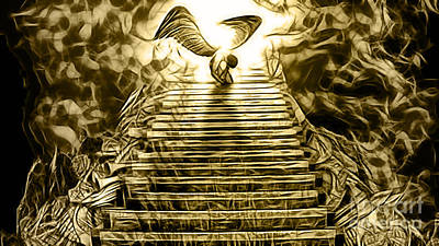 Mixed Media - Led Zeppelin Stairway To Heaven by Marvin Blaine