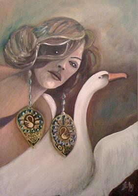 Painting - Leda by Gyorgy Szilagyi