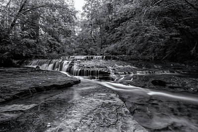 Photograph - Ledge Falls, No. 2 Bw by Belinda Greb