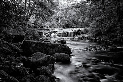 Photograph - Ledge Falls, No. 3 Bw by Belinda Greb