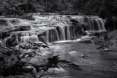 Photograph - Ledge Falls, No. 4 Bw by Belinda Greb