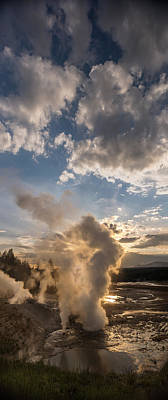 Ledge Photograph - Ledge Geyser Yellowstone N P by Steve Gadomski