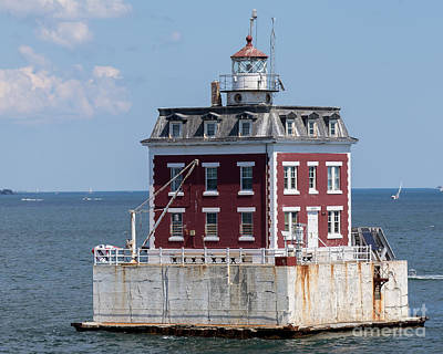 Photograph - Ledge Light Connecticut by Ted Jennings