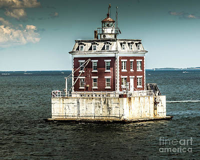 Photograph - Ledge Light by Ted Jennings