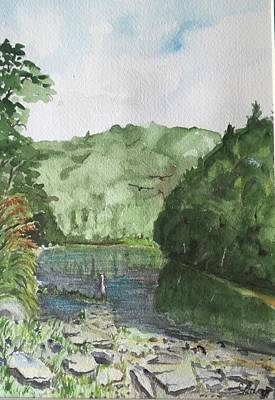 Painting - River by Christine Lathrop