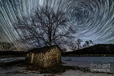 Photograph - Ledges Star Trails by Willard Sharp