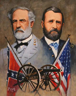 Robert E Lee Painting - Lee And Grant by Ed Yanok