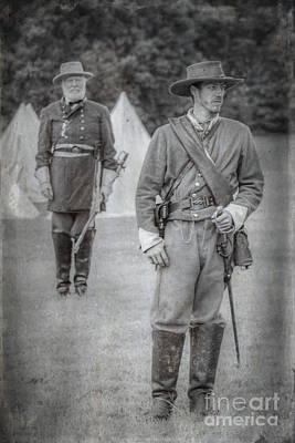 The General Lee Digital Art - Lee And Officer  by Randy Steele