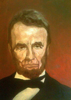 Painting - Lee Bergere As Abraham Lincoln by Peter Gartner