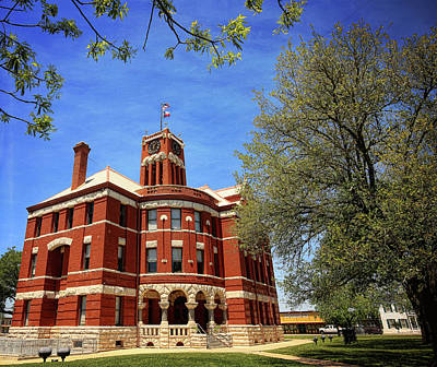 Photograph - Lee County Courthouse Giddings Texas 1 by Judy Vincent