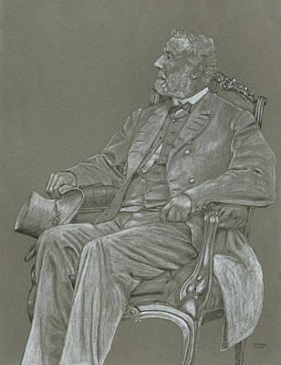 General Robert E Lee Drawing - Lee by Dennis Larson