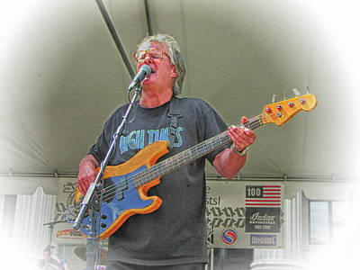 Photograph - Lee Dorman On Bass by Mike Martin