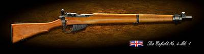 Digital Art - Lee Enfield British Firearm Study by John Wills
