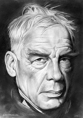 Drawing - Lee Marvin 2 by Greg Joens