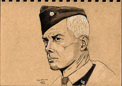 Drawing - Lee Marvin by Frank Middleton