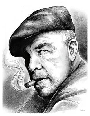 Drawing - Lee Marvin by Greg Joens