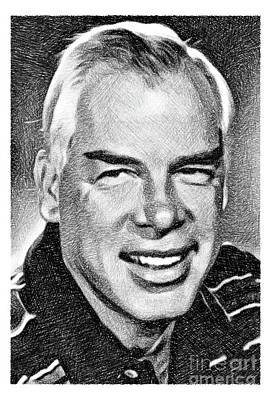 Musicians Drawings - Lee Marvin, Vintage Actor by JS by Esoterica Art Agency