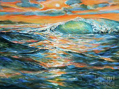 Painting - Lee Shore Wave by Linda Olsen