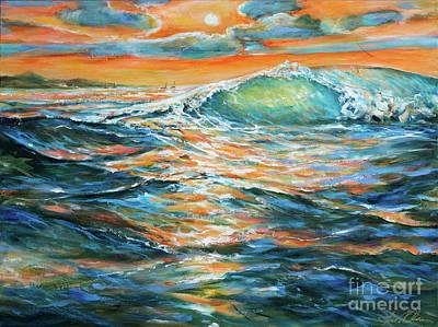 Painting - Lee Shore Wave by Linda Olsen