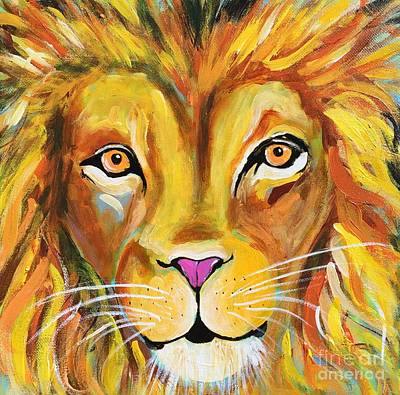 Painting - Lee The Lion by Kim Heil