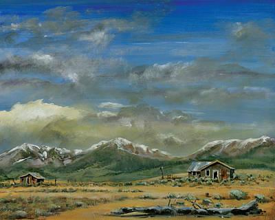 Back Road Painting - Lee Vining by Steve Beaumont