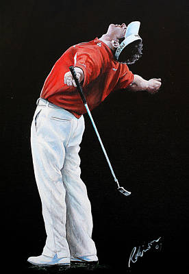 Painting - Lee Westwood by Mark Robinson