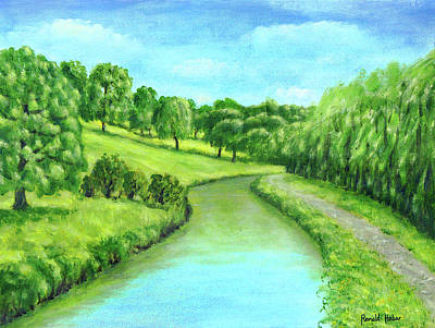 Leeds And Liverpool Canal - Riley Green Original by Ronald Haber