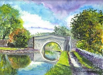 Light Paint Drawing - Leeds Canal Liverpool by Carol Wisniewski