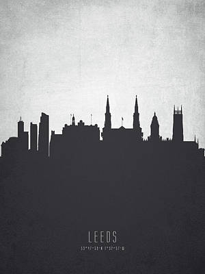 Leeds Painting - Leeds England Cityscape 19 by Aged Pixel