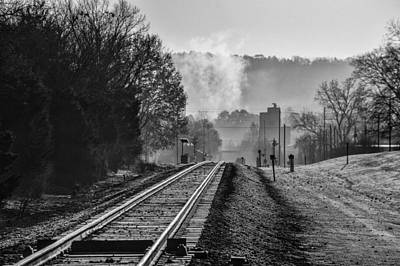 Photograph - Leeds Railroad Station And Tracks by Michael Thomas