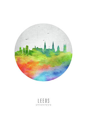 Leeds Digital Art - Leeds Skyline Gble20 by Aged Pixel