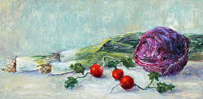Painting - Leeks, Radishes And Cabbage by Jill Musser