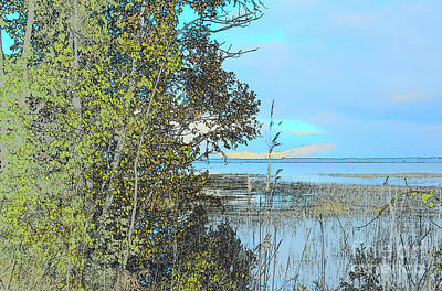 Photograph - Leelanau Peninsula Water Sketch by Grace Grogan